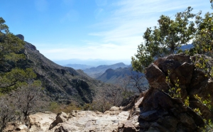 View from the Lost Mine Trail in Big Bend