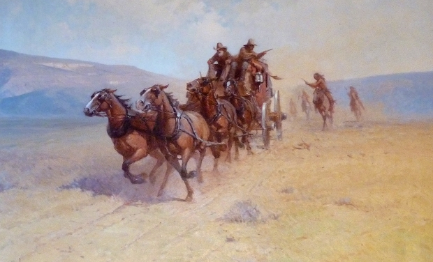 Painting from the Gage Hotel