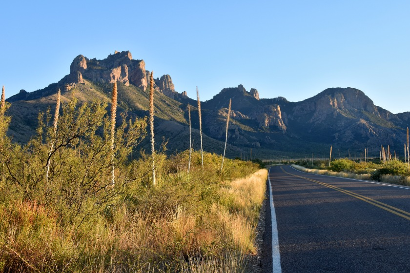 Road into the Chisos Mountains, Big Bend