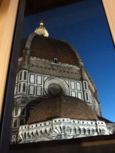 Brunelleschi's Dome through one of the apartment windows