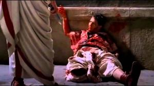 Ciaran Hinds as Julius Caesar in the series Rome.