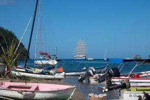 Royal Clipper in Marigot Bay St. Lucia