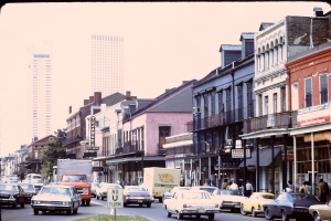 Decatur Street in the 1970's, nearing Jackson Square.