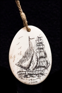 Scrimshaw pendant