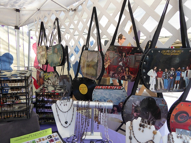 The Cat Nap Company sells jewelry designed by owner Pam Kirkland Garvin, along with purses made from old albums.