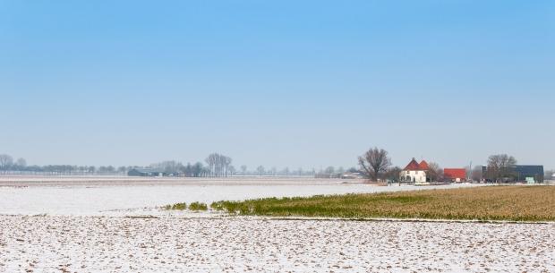 Dutch field in the snow. Copyright: rmorijn', 123RF Stock Photo