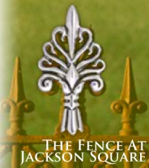 The fence around Jackson Square