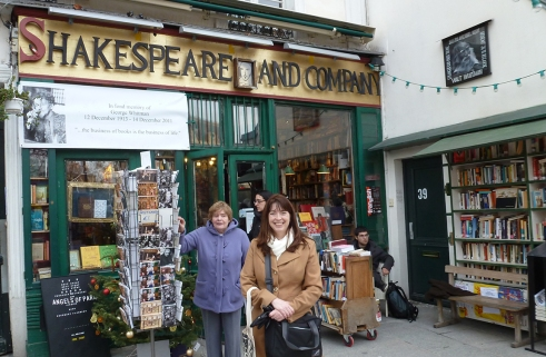 Outside of Shakespeare and Company, December 2012.