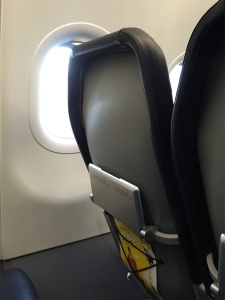 Cheap, cheap Spirit airlines seat.