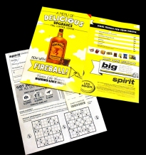 Spirit's menu
