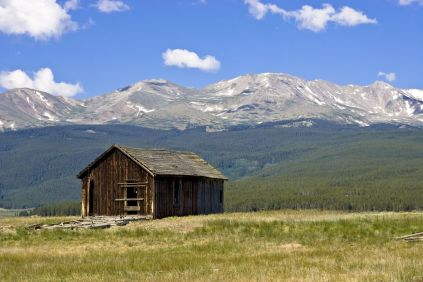 4601550 - abandoned shelter in the valley beneath mount massive in leadville, colorado, usa