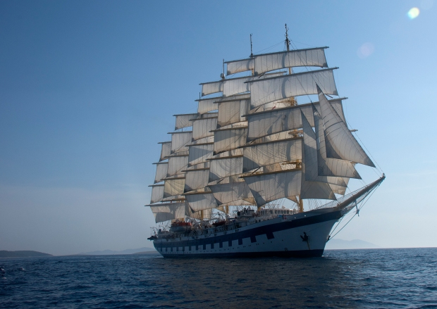 Royal Clipper in the Adriatic