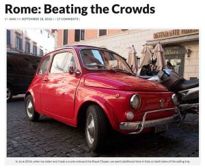 Classic Fiat in Rome