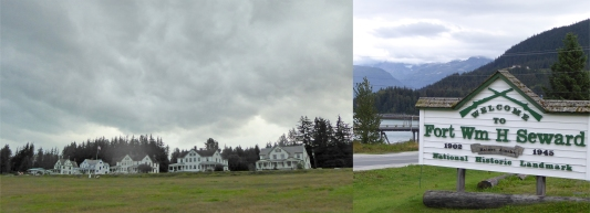 The site of Fort Seward, officers' quarters across the parade ground. All are now privately owned.