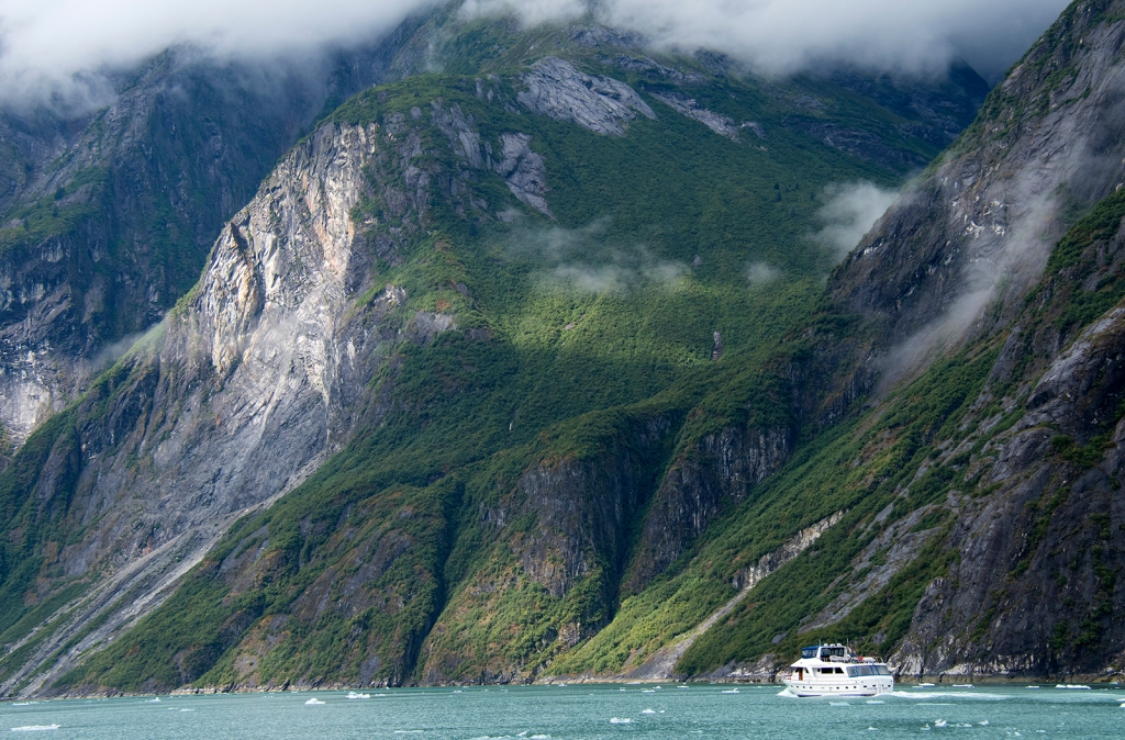 Tracy Arm Fjord, Alaska. Photograph, Ann Fisher.