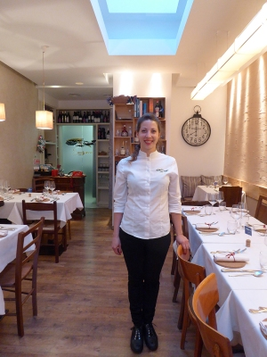 Lavinia de Santis in her restaurant Sughero in the Parioli neighborhood, Rome.