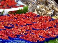 Wild strawberry season in Nemi! Photograph, Ann Fisher.