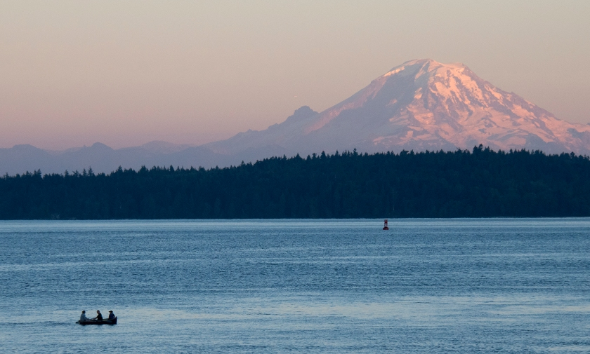 View of Mount Rainier from Rich Passage