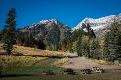 A view of the mountains from Ray's meadow at Sundance. Photograph, Ann Fisher.