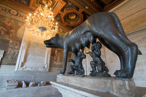 Etruscan she-wolf with Romulus and Remus, the Capitoline Museum. Photograph, Ann Fisher.