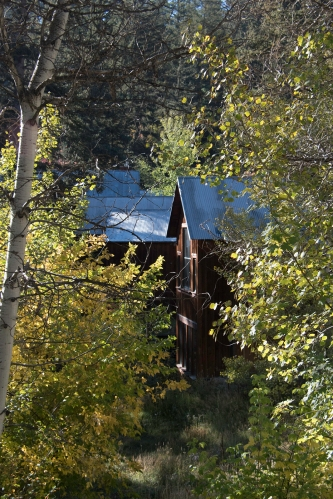 One of the cabins at the Sundance Mountain Resort. Photograph, Ann Fisher.