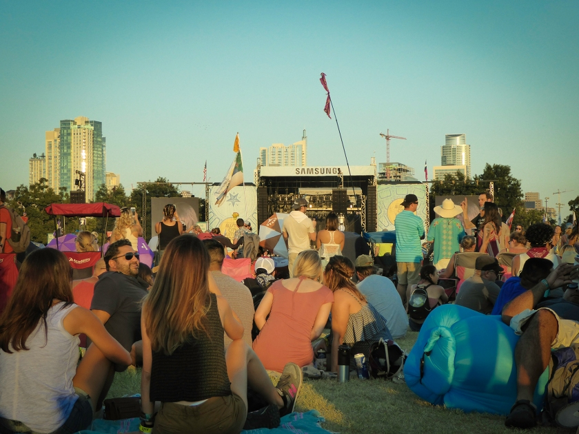 Austin City Limits Festival, Sunday afternoon, Weekend 1. Photograph, Ann Fisher.