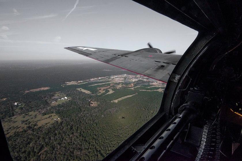 Left waist gunner position B-17 flying fortress