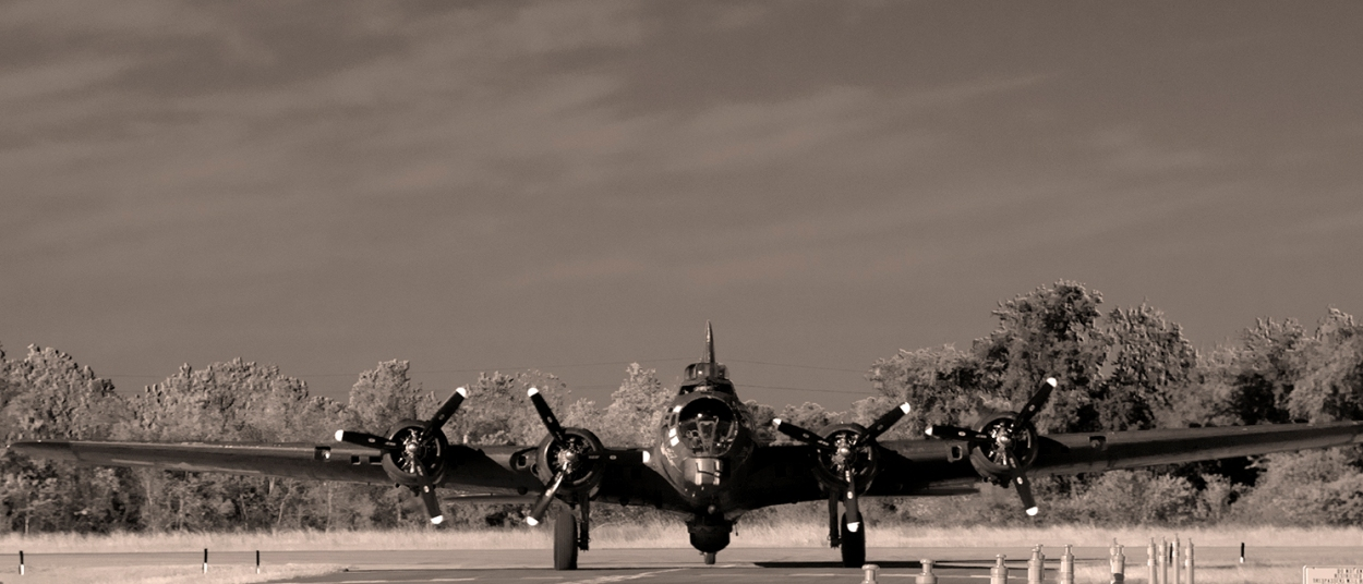 B-17 Flying Fortress. Photograph, Ann Fisher.