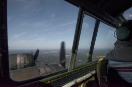 View from the cockpit.