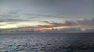 Sunrise on the Atlantic Ocean. Photograph: Bill Palmer.