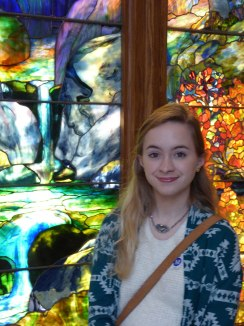 Catherine with Autumn Landscape, Tiffany Studios.
