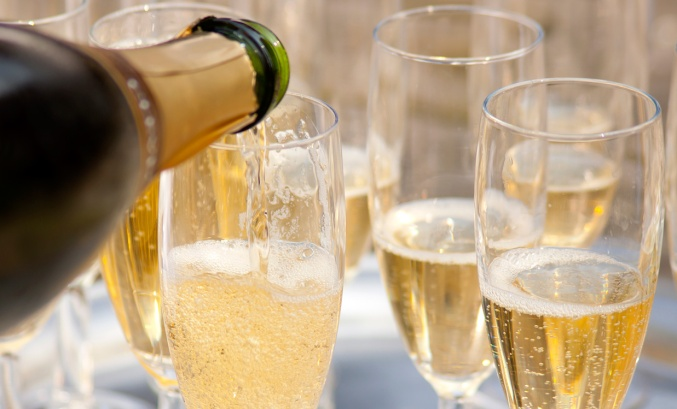 Champagne being poured. Photograph: bluefern, iStock by Gettty.