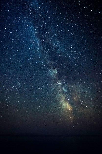 The Milky Way over the Atlantic Ocean.