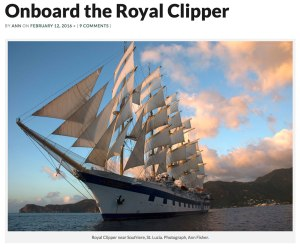 Royal Clipper sails near Soufriere in St. Lucia.