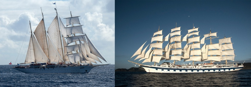 Star Flyer and Royal Clipper.