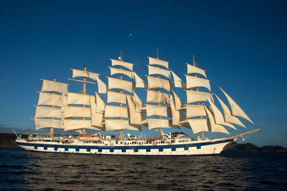 Royal Clipper near St. Kitts in the Windward Islands