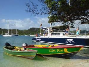 Shadowfax Catamaran in Grenada. Photograph, Ann Fisher.