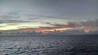 Sunrise Atlantic Ocean from Star Flyer