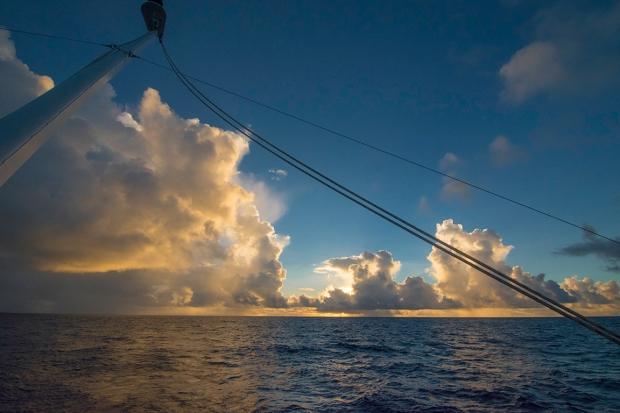 Sunrise, Atlantic Ocean. Photograph, Ann Fisher.