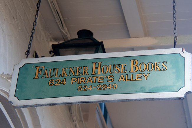 Faulkner House Books sign