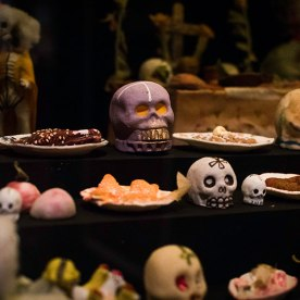 The dia de los muertos displays at the International Museum of Folk Art