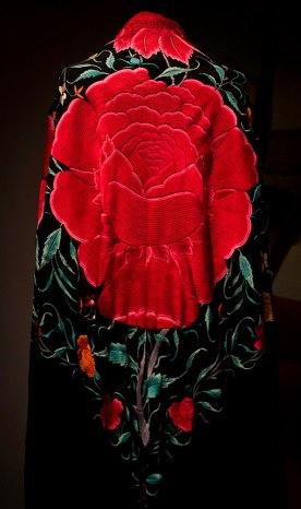 Detail of Flamenco Shawl.