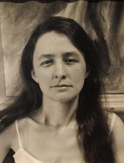 Georgia O'Keeffe in chemise, 1918. Photograph, Alfred Stieglitz.