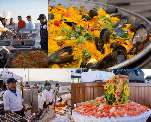 Deck barbecue on Windstar cruises Windsurf