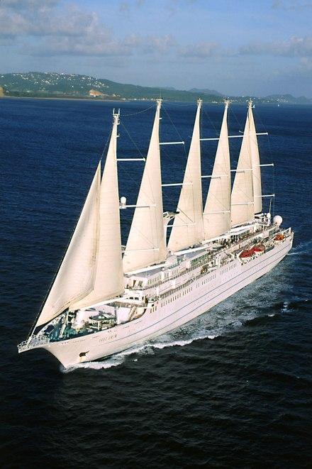 Wind Surf, Windstar's flagship yacht. Windstar Windsurf ship