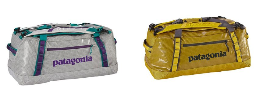 Patagonia Black Hole Duffel bags in the 60L size.