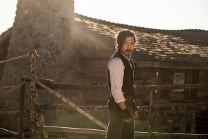 Byung-hun Lee at the Ghost Ranch City Slickers Cabin. Magnificent 7 film.
