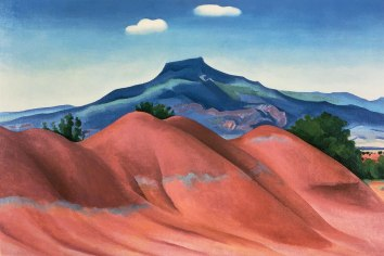 Red Hills with Pedernal, White Clouds. 1936. Georgia O'Keeffe.
