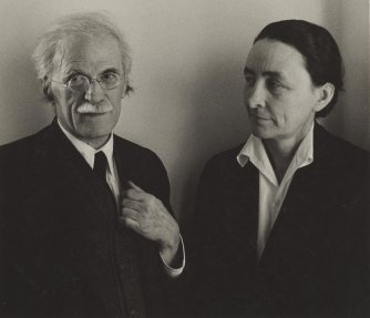 Alfred Stieglitz and Georgia O'Keeffe. c. 1939. Ansel Adams