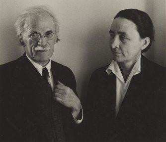 Alfred Stieglitz and Georgia O'Keeffe. c. 1939. Ansel Adams
